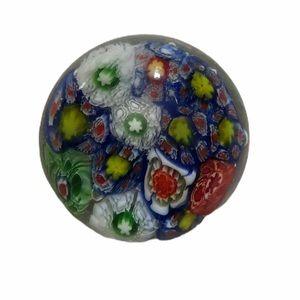 Vintage Murano Spring Flower Art Glass Paperweight